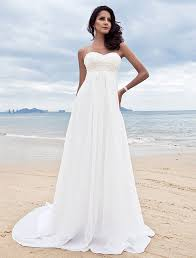 flowy wedding dresses a line sweetheart court chiffon wedding dress with beading