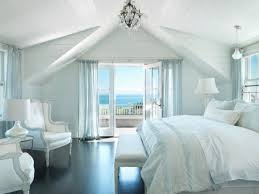 Decorated Master Bedrooms by Master Bedroom Decoration Modern Coastal Style In White And Blue