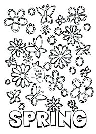coloring pages to print spring spring coloring pages free printable spring coloring pages free