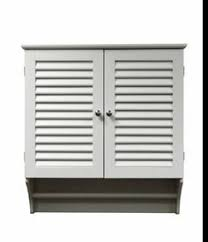 Bathroom Wall Cabinets White Wood Wall Cabinet With Open Storage And Towel Bar 40