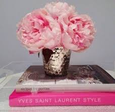 Vases With Fake Flowers Silk Peonies Arrangement Foter