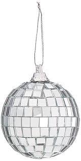 amazon com darice 6 piece mirror ornament ball 2 25 inch silver