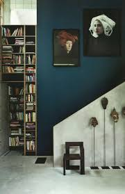 Dark Blue Accent Wall by