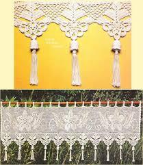 Crochet Lace Curtain Pattern 118 Best Filet Crochet Images On Pinterest Filet Crochet Crafts