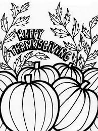 thanksgiving day tradition with pumpkin coloring page