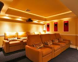 sweet home movie theater rooms with urban stylish decor and dark