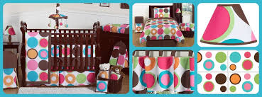 Teen Queen Bedding Bright Dot Modern Crib And Teen Bedding For Girls