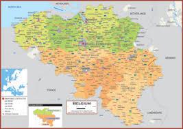physical map of belgium belgium maps academia maps