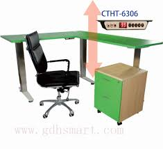 Height Adjustable Office Desks by Wooden Rostrum Small Round Office Meeting Table Electric Height