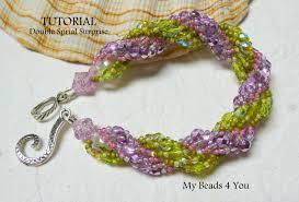 double beaded bracelet images Pdf beading tutorial double spiral pattern bead jpg