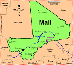 Map Of Mali West Africa By Phoebe Atkins