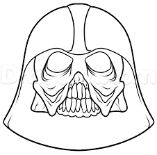 how to draw a darth vader skull step by step star wars