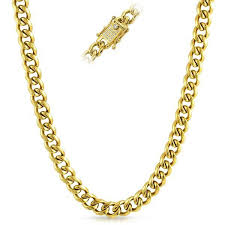 gold necklace clasps images Cz clasp 10mm cuban chain gold stainless steel hiphopbling jpg