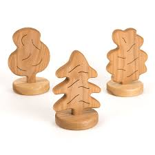 buy small world chunky wooden trees tts