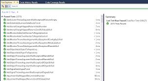 unit test coverage code metrics static code analysis