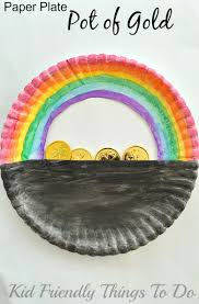 kid friendly thanksgiving crafts a simple paper plate pot of gold st patrick u0027s day craft