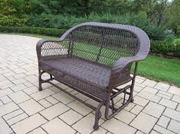 Patio Glider Bench Patio 48 Wicker Porch Glider And Patio Pavers With Lawn Also