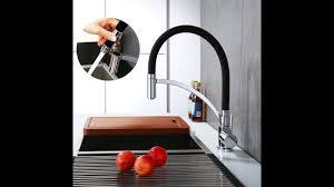 Chrome Kitchen Sink Homelody Black Chrome Kitchen Sink Mixer Tap With Swivel Spray