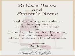 wedding invitation messages wedding invitation wording from and groom wedding invitation