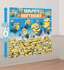 DESPICABLE ME photo backdrop BIRTHDAY party wall decor Scene