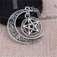 aliexpress moon necklace images New supernatural necklace witch protection crescent moon knot jpg
