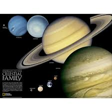 the solar system 2 sided wall map laminated national the solar system 2 sided wall map laminated national geographic store