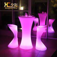 salon mobilier de bureau led bar table en plastique lumineux mobilier de whisky cocktail