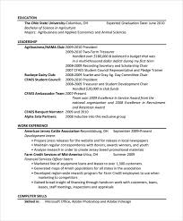 Php Programmer Resume Sample by 10 Agriculture Resume Templates Free Pdf Word Samples