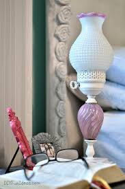 super cute diy shabby chic lamp makeover do it yourself fun ideas