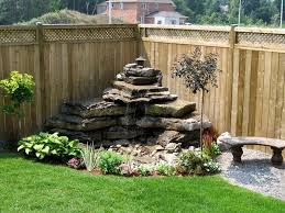Corner Backyard Landscaping Ideas Wonderful Garden Features For Small Gardens Water Features For