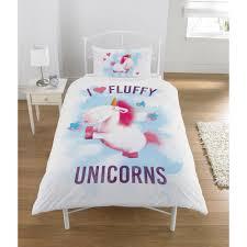 despicable me i love fluffy unicorn single duvet set toys r us