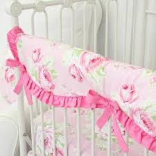 shabby chic roses crib rail cover caden lane