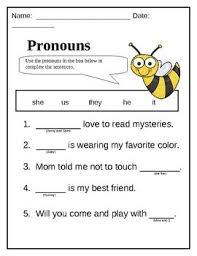 best  teaching pronouns ideas on pinterest  grammar anchor  with this sheet may be used as a worksheet or assessment for pronouns this  worksheet goes from pinterestcom