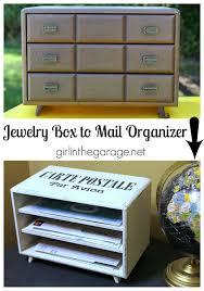 Desk Mail Organizer by Jewelry Box To Diy Mail Organizer Girl In The Garage