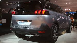 peugeot 5008 trunk peugeot 5008 7 seater gets an all new look for paris