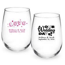 stemless wine glasses wedding favors chalkboard personalized stemless wine glass personalized 9 oz