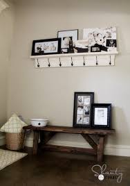 Pottery Barn Entryway Bench And Shelf Bench Diy For The Entryway 15 Shanty 2 Chic With Regard To Popular