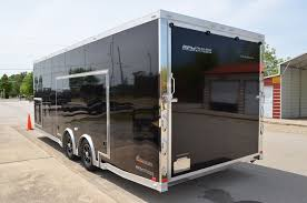 enclosed trailer exterior lights 24 custom aluminum car hauler with escape door custom aluminum
