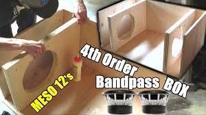 Diy Speaker Box Schematics Building A Bandpass Subwoofer Box 4th Order Sub Enclosure Build