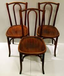 Wooden Bistro Chairs Set Of 10 French Bistro Chairs By Fischel At 1stdibs