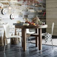 Barn Wood Dining Room Table Emmerson Reclaimed Wood Round Dining Table West Elm
