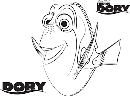 bailey finding dory printable coloring page