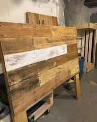 rustic handmade pallet full size headboard and footboard joys