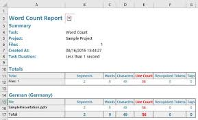 Count Number Of Words In Excel Word Count Result Different To Ms Word Sdl Trados Studio