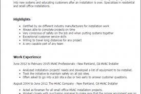 Hvac Technician Resume Samples by Sample Resume For Tile Installer Reentrycorps
