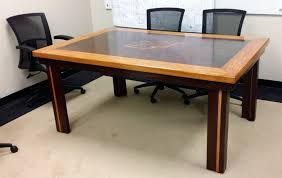 Oak Meeting Table Cnc Router Adding Value To Recycled Materials