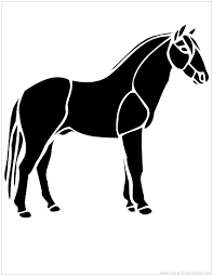 4 best images of free printable horse stencil horse pumpkin