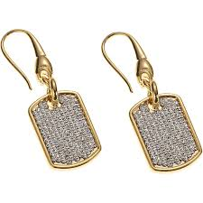 women warriors by stella valle aspire dog tag earrings jewelry