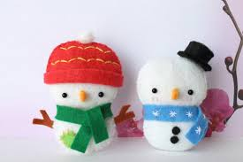 pdf pattern felt snowman ornament