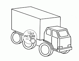 easy truck coloring page for preschoolers transportation coloring